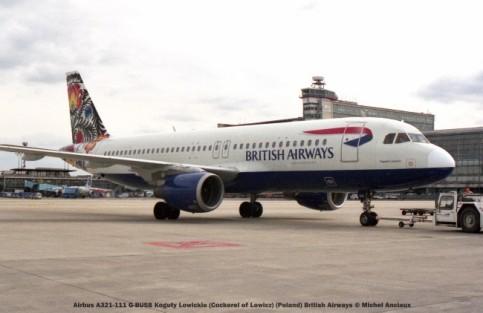 017 Airbus A321-111 G-BUSB Koguty Lowickie (Cockerel of Lowicz) (Poland) British Airways © Michel Anciaux