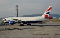 018 Boeing 777-236 ER G-YMMK Chatham Dockyard Union Flag British Airways © Michel Anciaux