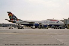 019 Boeing 747-436 G-BNLT Koguty Lowickie (Cockerel of Lowicz) (Poland) British Airways © Michel Anciaux