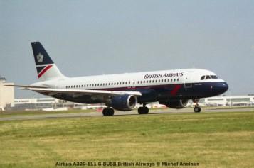 021 Airbus A320-111 G-BUSB British Airways © Michel Anciaux