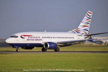 021 Boeing 737-5L9 G-MSKC Waves of the City (USA) British Airways © Michel Anciaux