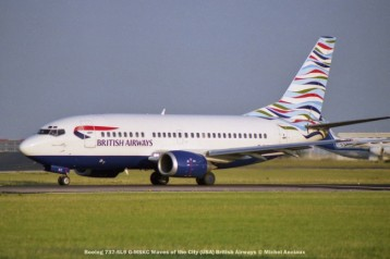021 Boeing 737-5L9 G-MSKC Waves of the City (USA) British Airways © Michel Anciaux