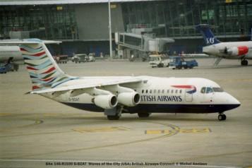 022 BAe 146-RJ100 G-BZAT Waves of the City (USA) British Airways Connect © Michel Anciaux