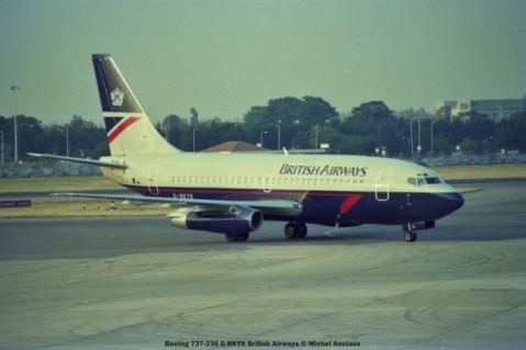 022 Boeing 737-236 G-BKYK British Airways © Michel Anciaux