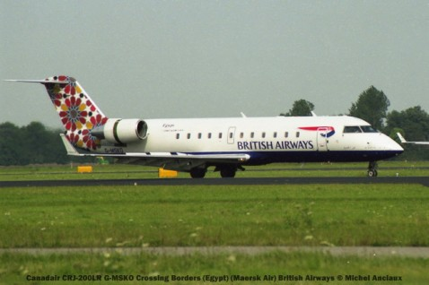 023 Canadair CRJ-200LR G-MSKO Crossing Borders (Egypt) (Maersk Air) British Airways © Michel Anciaux