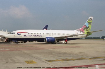 027 Boeing 737-436 G-DOCV Animals & Trees Animals & Trees (Botswana) British Airways © Michel Anciaux