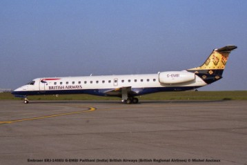 031 Embraer ERJ-145EU G-EMBI Paithani (India) British Airways (British Regional Airlines) © Michel Anciaux