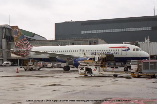 032 Airbus A320-211 G-BUSJ Ngapa Jukurrpa Water Dreaming (Australia) British Airways © Michel Anciaux