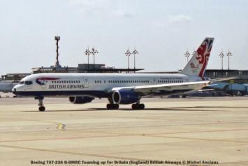 033 Boeing 757-236 G-BMRC Teaming up for Britain (England) British Airways © Michel Anciaux
