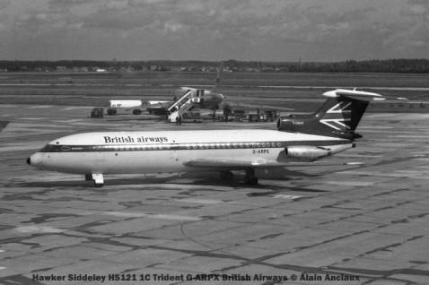1 Hawker Siddeley HS121 1C Trident G-ARPX British Airways © Alain Anciaux