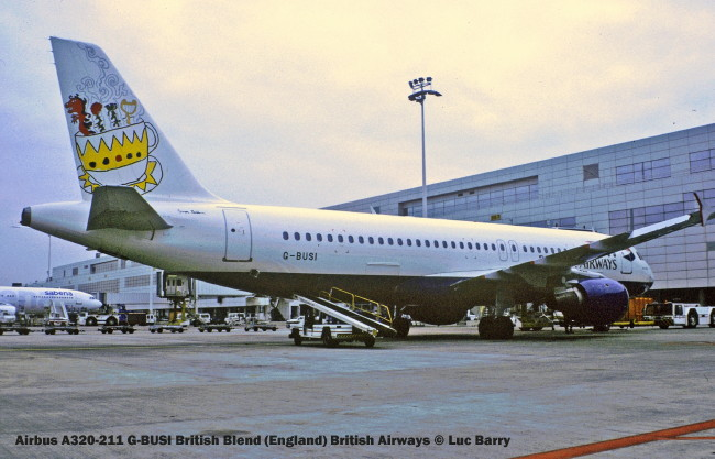 20611 Airbus A320-211 G-BUSI British Blend (England) British Airways © Luc Barry