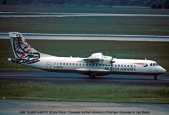 20917 ATR 72-202 G-BXTN Whale Rider (Canada) British Airways (CityFlyer Express) © Luc Barry