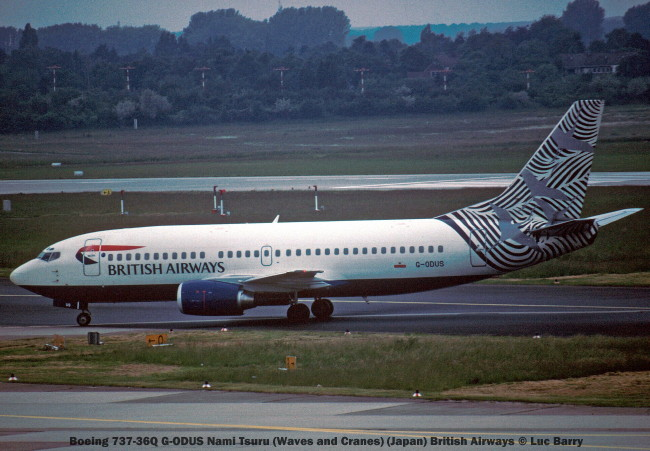 21854C Boeing 737-36Q G-ODUS Nami Tsuru (Waves and Cranes) (Japan) British Airways © Luc Barry
