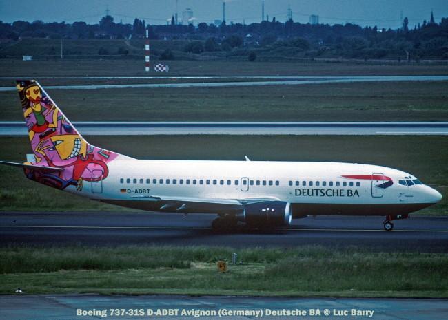 21864C Boeing 737-31S D-ADBT Avignon (Germany) Deutsche BA © Luc Barry