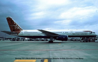 21869c Boeing 757-236 G-BIKH Golden Khokhloma (Russia) British Airways © Luc Barry