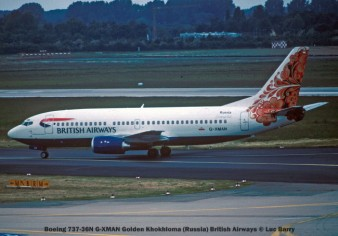 21870C Boeing 737-36N G-XMAN Golden Khokhloma (Russia) British Airways © Luc Barry