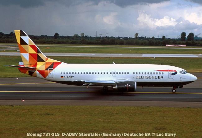 21871C Boeing 737-31S D-ADBV Sterntaler (Germany) Deutsche BA © Luc Barry
