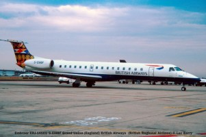 22401C Embraer ERJ-145EU G-EMBF Grand Union (England) British Airways (British Regional Airlines) © Luc Barry