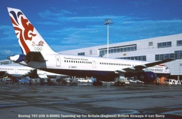 24196c Boeing 757-236 G-BMRC Teaming up for Britain British Airways © Luc Barry