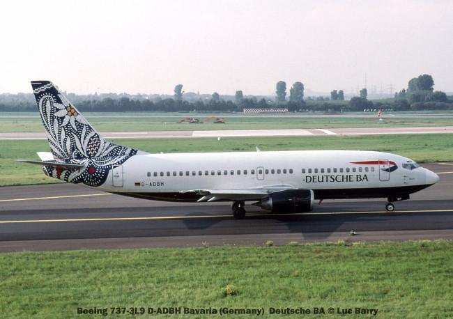 24525 Boeing 737-3L9 D-ADBH Bavaria (Germany) Deutsche BA © Luc Barry