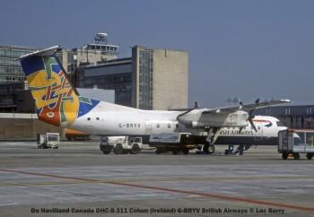 29547C De Havilland Canada DHC-8-311 Colum (Ireland) G-BRYV British Airways © Luc Barry