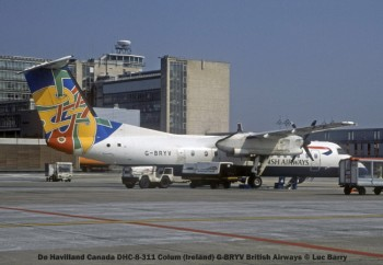 29547C De Havilland Canada DHC-8-311 Colum (Ireland) G-BRYV British Airways © Luc Barry