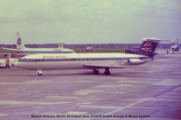 6 Hawker Siddeley HS121 3B Trident Three G-AWZS British Airways © Michel Anciaux