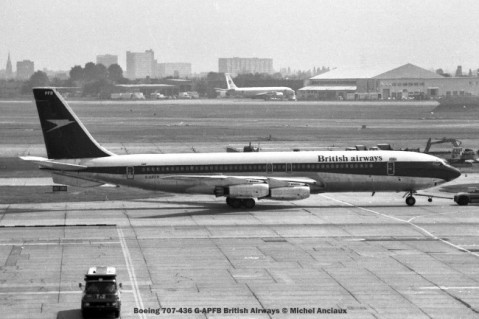 7 Boeing 707-436 G-APFB British Airways © Michel Anciaux