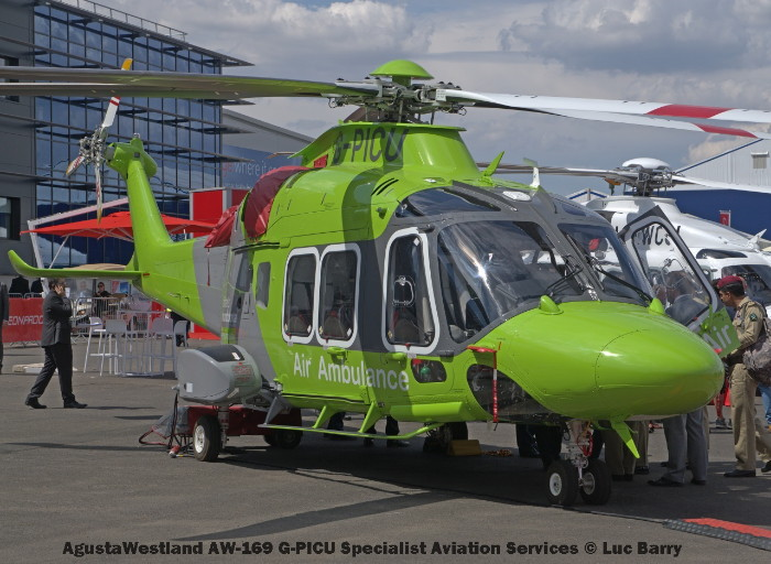 DSC07249 AgustaWestland AW-169 G-PICU Specialist Aviation Services © Luc Barry