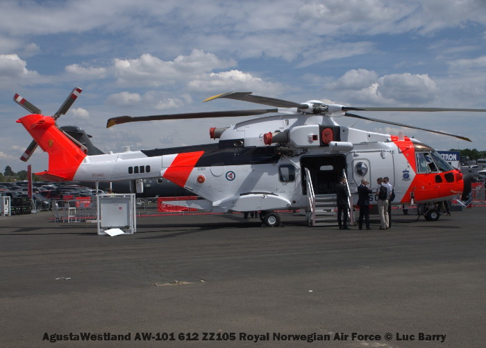 DSC07264 AgustaWestland AW-101 612 ZZ105 Royal Norvegian Air Force © Luc Barry