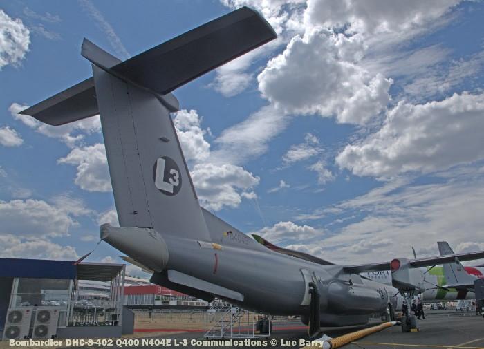 DSC07290 Bombardier DHC-8-402 Q400 N404E L-3 Communications © Luc Barry