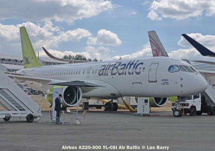 DSC07293 Airbus A220-300 YL-CSI Air Baltic © Luc Barry