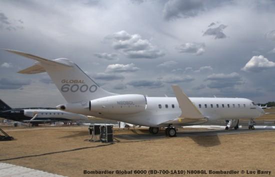 DSC07306 Bombardier Global 6000 (BD-700-1A10) N808GL Bombardier © Luc Barry