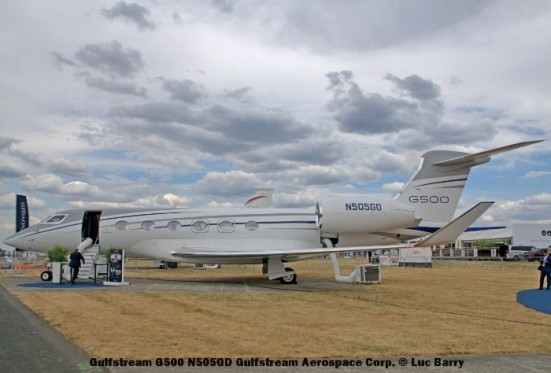 DSC07316 Gulfstream G500 N505GD Gulfstream Aerospace Corp. © Luc Barry