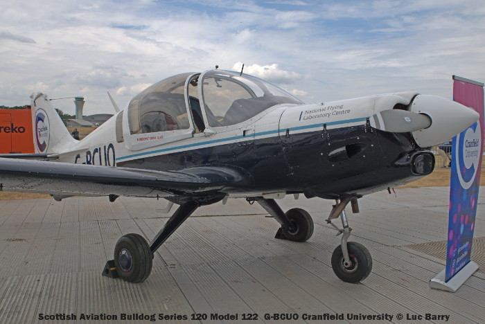 DSC07320 Scottish Aviation Bulldog Series 120 Model 122 G-BCUO Cranfield University © Luc Barry