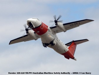 DSC07473 Dornier 328-110 VH-PPJ Australian Maritime Safety Authority – AMSA © Luc Barry