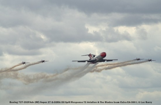 DSC07653 Boeing 727-2S2FAdv (RE) Super 27 G-OSRA Oil Spill Response T2 Aviation & The Blades team Extra EA-300 L © Luc Barry