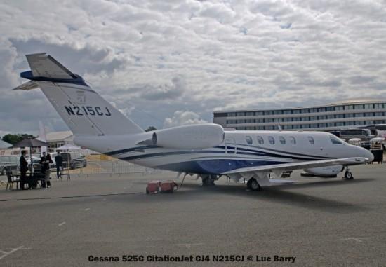 DSC07672 Cessna 525C CitationJet CJ4 N215CJ © Luc Barry