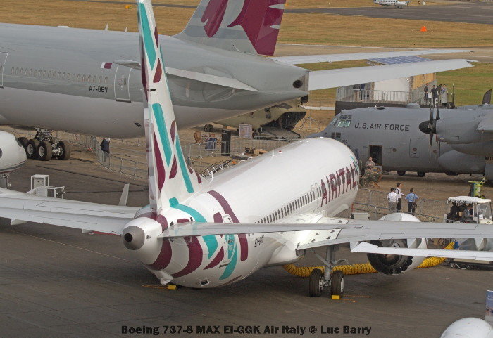 DSC08816 Boeing 737-8 MAX EI-GGK Air Italy © Luc Barry
