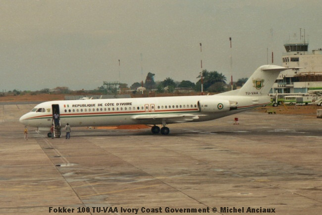 img1000 Fokker 100 TU-VAA Ivory Coast Government © Michel Anciaux