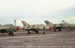 img1011 Mikoyan-Gurevich Mig-21UM ''503'', Mig-21MF ''521'' & ''507'' Congo (Brazzaville) Air Force © Michel Anciaux
