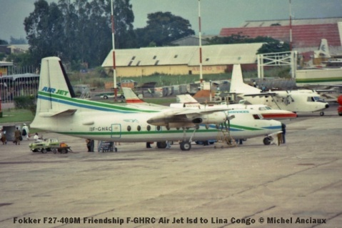 img894 Fokker F27-400M Friendship F-GHRC Air Jet lsd to Lina Congo © Michel Anciaux