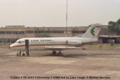 img898 Fokker F-28-1003 Fellowship F-GIMH lsd to Lina Congo © Michel Anciaux