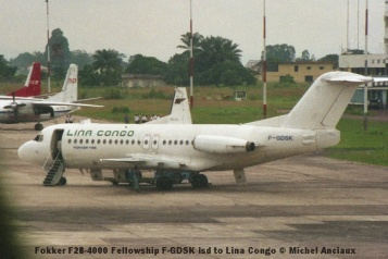 img899 Fokker F28-4000 Fellowship F-GDSK lsd to Lina Congo © Michel Anciaux
