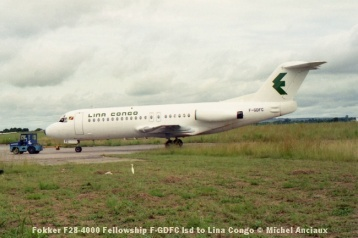 img900 Fokker F28-4000 Fellowship F-GDFC lsd to Lina Congo © Michel Anciaux