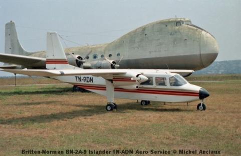 img908 Britten-Norman BN-2A-9 Islander TN-ADN Aero Service © Michel Anciaux