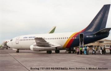 img919 Boeing 737-293 9Q-CKZ lsd to Aero Service © Michel Anciaux