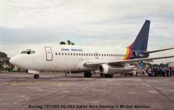 img920 Boeing 737-293 9Q-CKZ lsd to Aero Service © Michel Anciaux