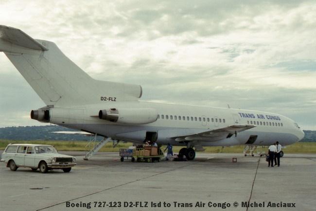 img997 Boeing 727-123 D2-FLZ lsd to Trans Air Congo © Michel Anciaux