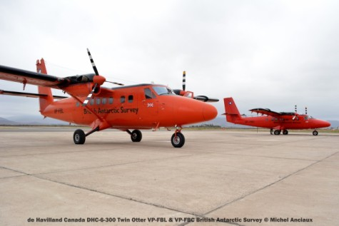 DSC_0030 de Havilland Canada DHC-6-300 Twin Otter VP-FBL & VP-FBC British Antarctic Survey © Michel Anciaux